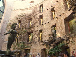 The courtyard of the museum is full of symbolism and sculptures that immerse you in Dali's dream-like vision. , Deidre H - October 2015