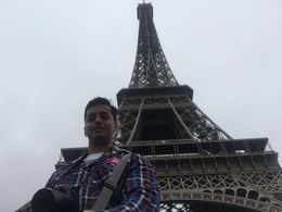 Childhood dream of visiting Eiffel tower finally over. , Arpit S - June 2016