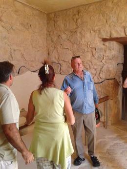 Our tour guide in action at Masada. , LUCIO SAMPIETRO - October 2014