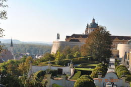 This Benedictine abbey is located above the town of Melk on a rocky outcrop overlooking the river Danube in Lower Austria, adjoining the Wachau valley. Abbey is located above the town of Melk on ... , Stephanie G - October 2011