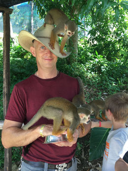 the monkeys loved his hat! , Kim L - June 2016