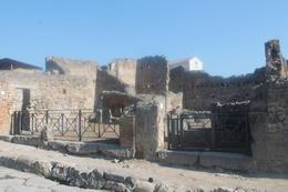 Pompeii road with shops , Lauren C - October 2014