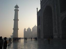 Walking around on the terrace of Taj Mahal - August 2012