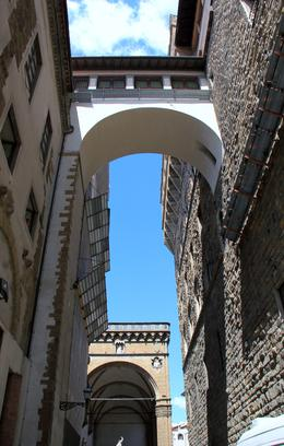 The high level passage between the Medic Palace and Uffizi Gallery, the start of the Vasari Corridor. , John G - August 2014
