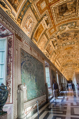 The maps and the painted ceiling included more talent than I could imagine. I had never seen anything like it. Beautiful! This early morning tour allowed us to see things without the huge crowds. ... , lorieb - October 2014