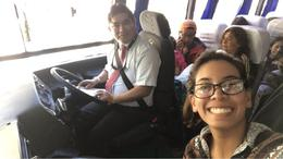 Front row seat of the bus!! , Marissa D - September 2017