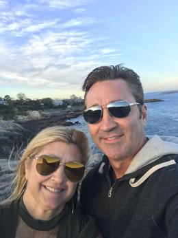 Us at Marblehead after a fun day in Salem , Gary W - October 2017