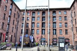 This is the main entrance into the Albert dock. On the left of the picture is the Beatles story exhibition. , David Lally - September 2015