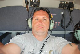 me in the helicopter , peter - September 2011