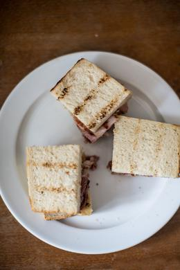 Delicious bacon sandwich, HTravelerUK - September 2013
