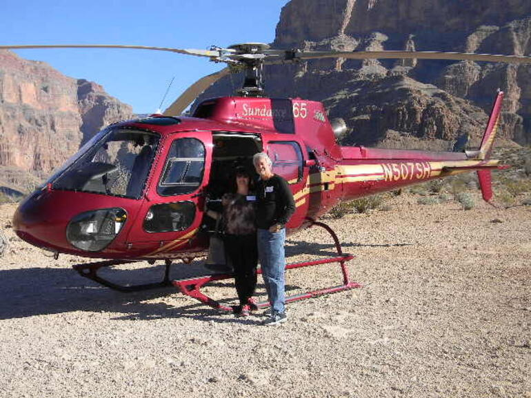In the Grand Canyon by our Heliopter - Las Vegas