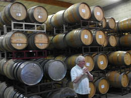 Maurice presents at the Madonna Estate cask room. His knowledge of this vineyard is exceptional! , Robin B - October 2013