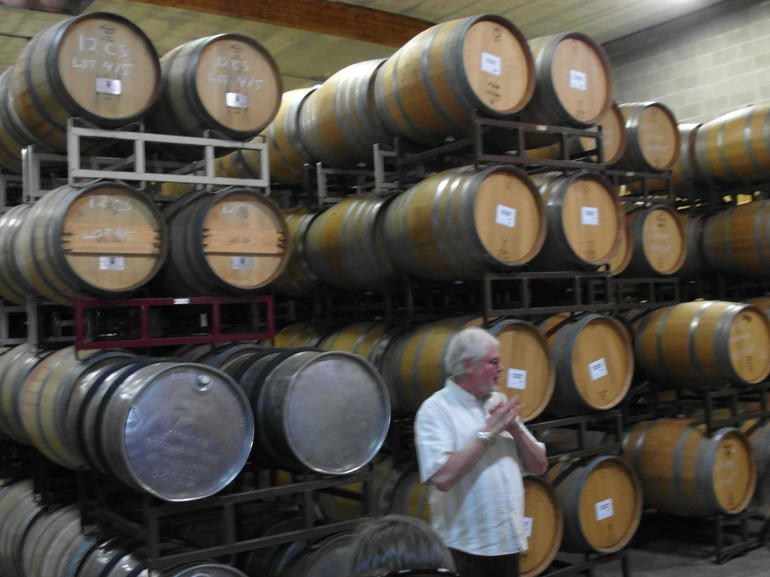Maurice's presentation at the Madonna Estate cask room - San Francisco