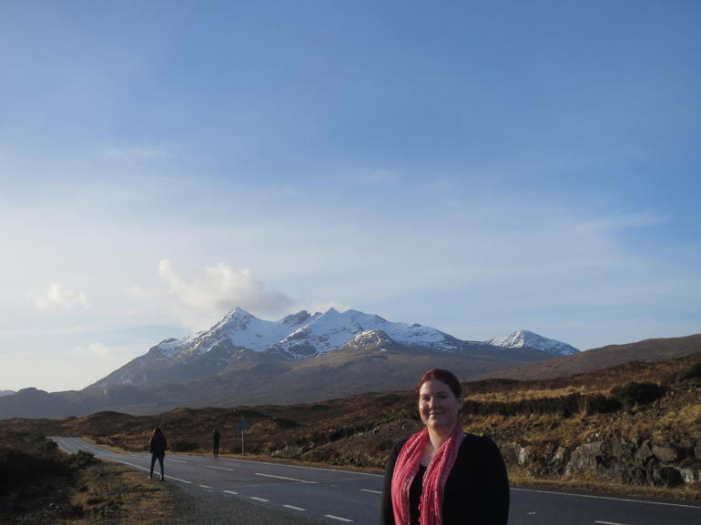 Me outside of Portree - Edinburgh
