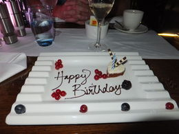 A great end to the evening!! A Birthday cake from Bateaux Dubai. , Nigel M - March 2015