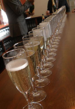 Heaven!!! Champagne being poured at Mumm , Brex-Anna - October 2012