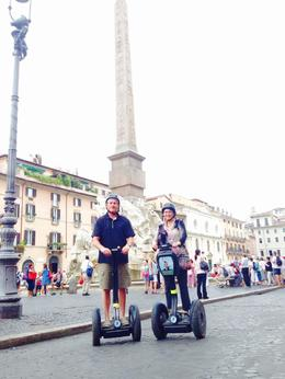 On our segways in front of the Piazza Navona , Carla N - September 2016