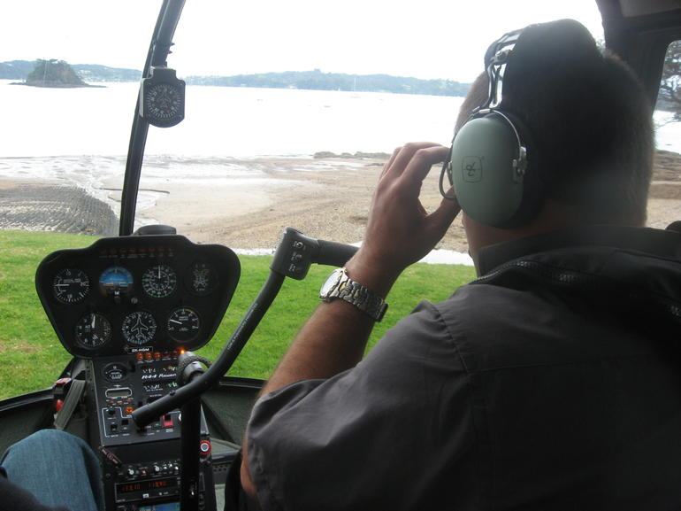 Pilot takeoff - Bay of Islands