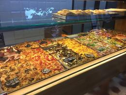 This place has soo many different kinds of pizza to try! Our group got to pick out the kinds we wanted to taste and shared. , Brittney D - October 2016