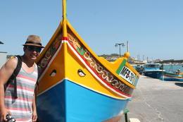 Taken at the fishing village of Marsaxlokk , JumpingNorman - September 2014