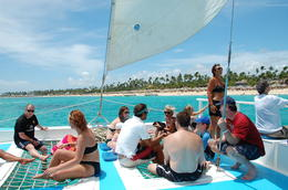 Part of our group (Bavaro snorkel cruise), Kristin B - August 2011