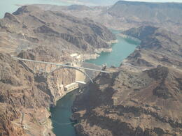flying over The Hoover Dam , Londa L - August 2013
