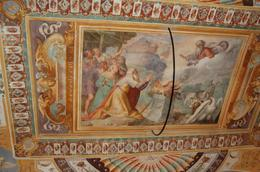 Ceiling painting Hadrian's gardens and fountains., James H - July 2008