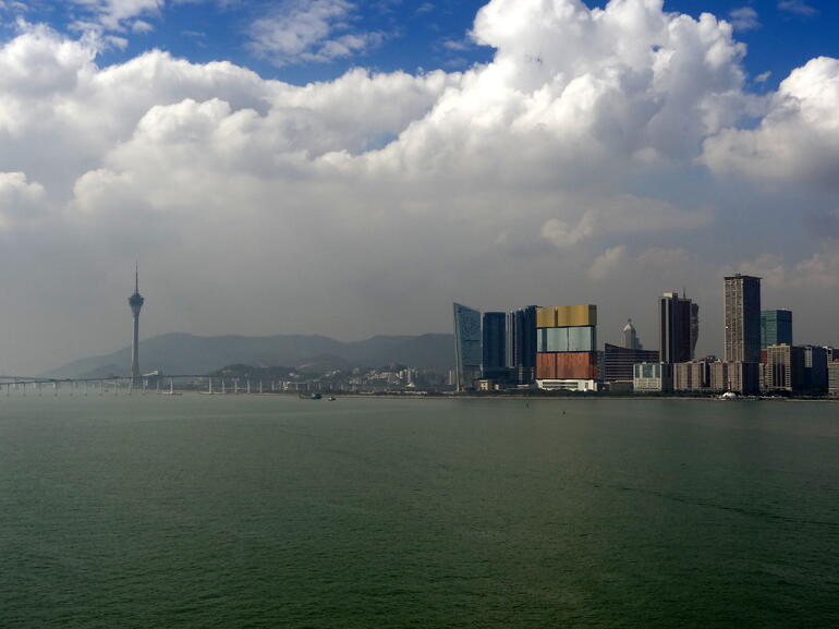 Waterfront casinos and Macau Tower - Macau