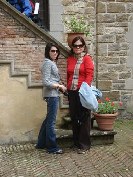 My wife and daughter at the castle, Francisco M - May 2010