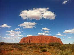 View of Ayers Rock (Uluru), Ramzi K - April 2013