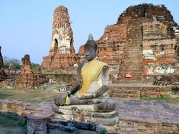 Buddha meditating, Ayutthaya, central Thailand - June 2011