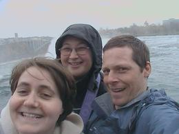Sophie, Katherine and Sean. By the American Falls on our trip for NY to Niagara Falls., Sean K - November 2007