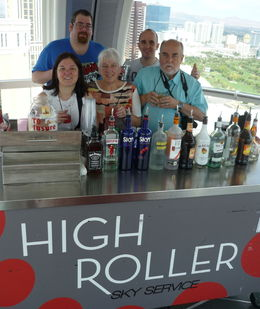 Our family in the High Roller for Happy Half Hour on Saturday September 26. Picture taken by CJ our bar tender , Robert B - October 2015