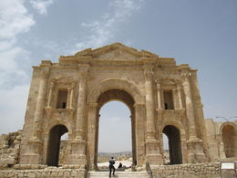 entrance to Jerash, ancient and preserved thanks to earthquake dust roman city , Amanda B - June 2015