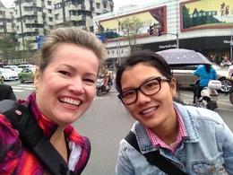 Myself and Rhea going for a selfie. , Pamela P - December 2014