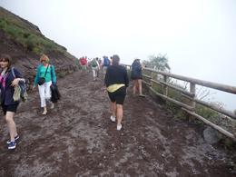 Climbing up Mt. Vesuvius, Christopher F - September 2010
