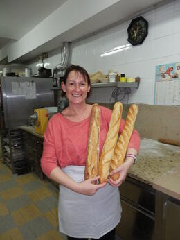 The baguettes that I rolled and scored for the oven and you get to take some home , Rachel G - September 2012