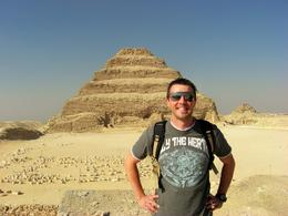 Standing in front of the original 'step' type pyramid at Sakkara. - March 2008