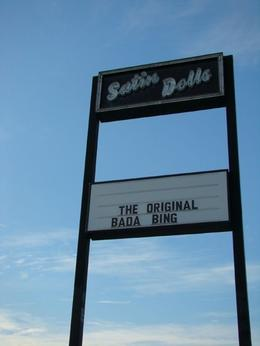This is the real name of the Bada Bing, no photos allowed inside the club!!, Ross D - October 2008