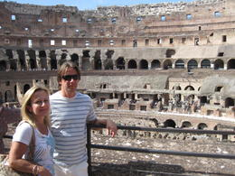 Debbie and John at the Colosseum in Rome. Met some nice people from all over the world! Our tour guide was a professor and he was extremely knowledgeable in all of the areas we visited. The..., Debbie - August 2014