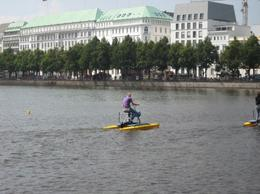 Waterbike rentals on the Alster, clairemc - October 2010