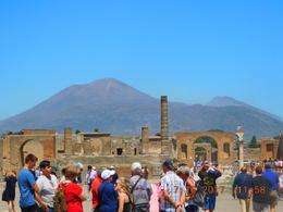 Vesuvius from Pompeii forum , Marilyn H - July 2017