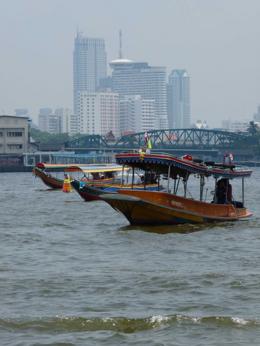 Boats on the Chao Phraya River., kellythepea - October 2010