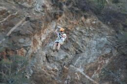 Loving the exciting zipline - March 2010