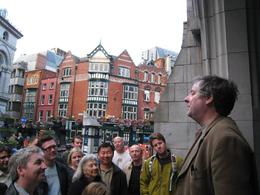 Literary Pub Crawl: A scene acted out outside the pub we stopped at - June 2009