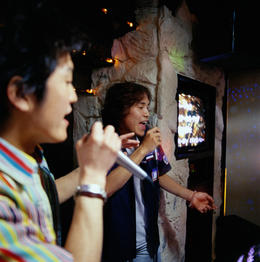 Karaoke scene in Tokyo at night - June 2013