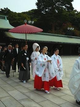 Shinto Wedding at the Meiji Shrine, Aurelie F - November 2009