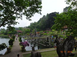 a view of Tirta Ganga water palace with its typical tropical gardens. , satish chandra - November 2014