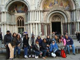 The group at St. Marks Basilica, just enjoying the square waiting for the tour to begin., Diva Style - December 2009