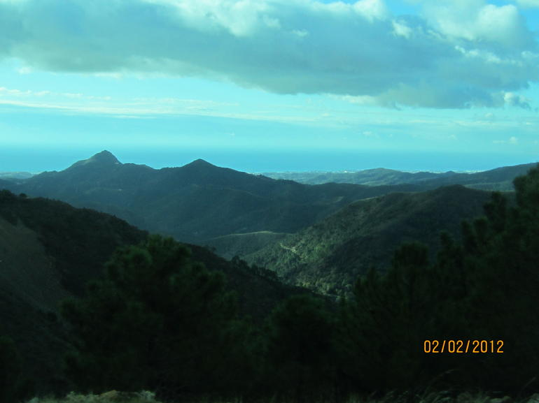 View from the mountains. - Costa del Sol